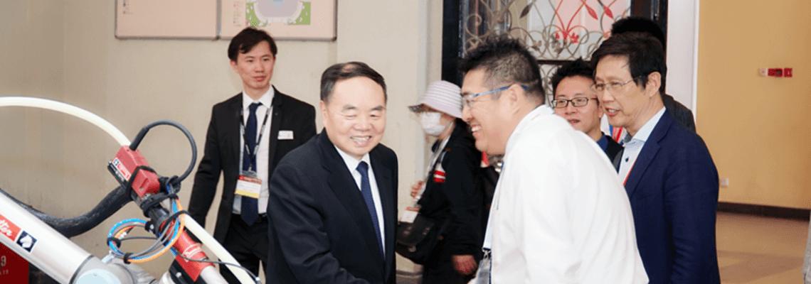燃情IAMD, 曾任中国工程院院长莅临马头展台参观交流