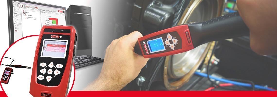 新一代Delta分析仪是一种紧凑型分析仪,便于携带,重量仅为500g,可监控各类生产工具。<br/>与Desoutter DRT或DST传感器结合使用时,该分析仪能够校准脉冲拧紧工具、电动拧紧机或扭矩扳手。新一代Delta分析仪分为三大类型:仅用于扭矩测量的(DELTA 1D)、扭矩和角度测量(Delta 6D)以及与DWTA扳手配合使用能检查残余扭矩的(Delta 7D)。<br/>