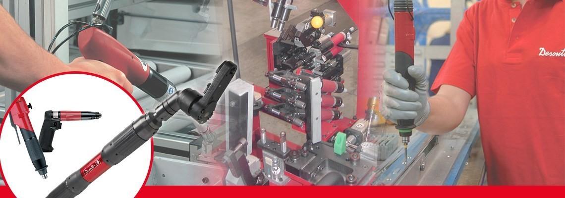 马头动力工具全系列气动拧紧工具,包括高精度、高质量拧紧的非断气型枪式螺丝刀