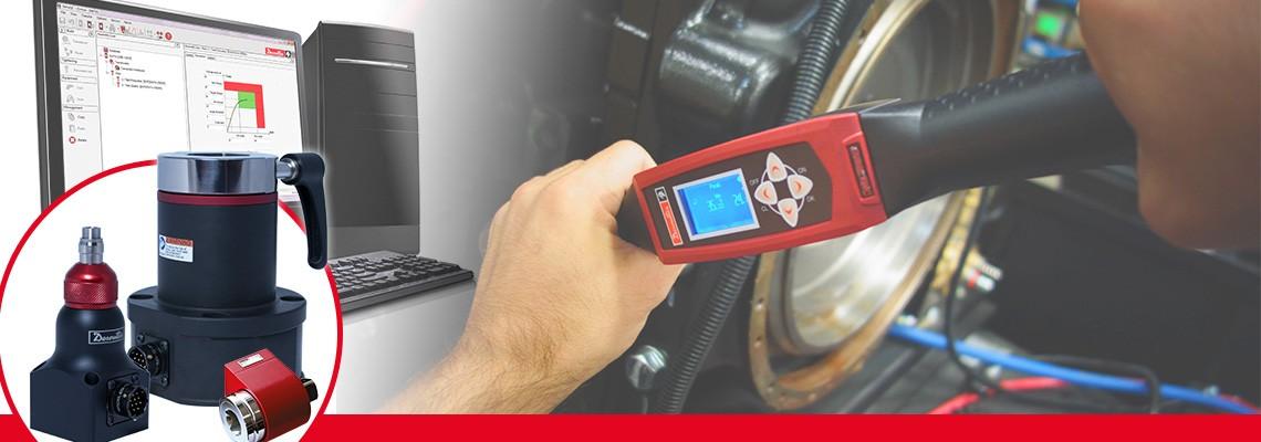 马头动力工具设计用于测量各种非冲击式装配工具扭矩输出的全系列旋转式扭矩传感器